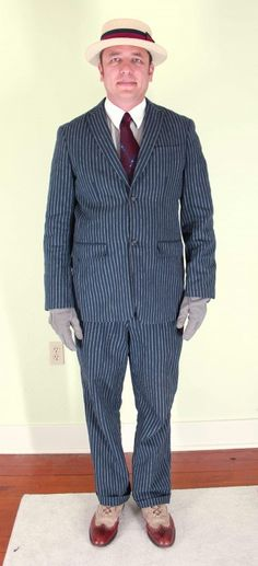 Great bootlegger costume for Charles Sway. http://afoulplay.com/mysteries/hotel-hawthorne-haunts/
