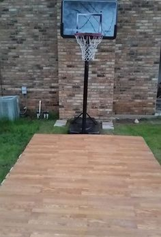 20 x 25 dimensions of backyard basketball half court for Building a basketball court
