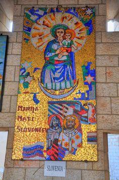 Nazareth: Church of the Annunciation  Mosaics in the Church of the Annunciation