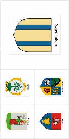 Wappenpostkarten Ungarn