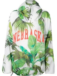 "Worn by Beyoncé in ""Feeling Myself"" vid Off-white Leaves Printed Hoodie - The Webster - Farfetch.com"