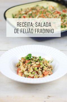 Receita de salada de feijão fradinho. // palavras-chave: feijão, salada, feijão fradinho, sardinha, cebolinha, almoço, jantar, prato frio, receita fácil, vegetariano, saudável, alimento, saúde.