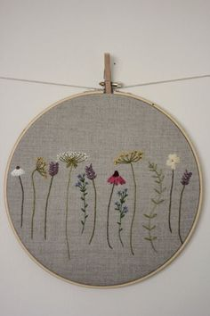 Botanical Embroidery Hoop Art by JuniperandBerry on Etsy: