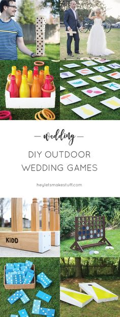DIY Hochzeit Spiele im Freien DIY Wedding Games Outdoor – – DIY Outdoor Wedding Games If you are planning an outdoor wedding, lawn games are a fun way to ensure that your guests are totally under Outdoor Wedding Games, Lawn Games Wedding, Wedding Reception Activities, Wedding Games For Guests, Diy Outdoor Weddings, Outdoor Wedding Decorations, Wedding Backyard, Outdoor Fun, Wedding Favors