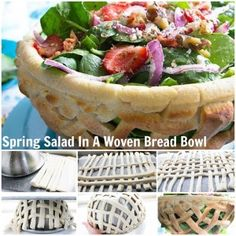 Vibrant crispy greens are paired with sweet, fresh strawberries and served in a delightful easy woven bread bowl! Prep Time30 min Total Time50 min Servings4 An ordinary salad for spring? Not when you serve it in a woven bread bowl that you make and bake (easily!) yourself. WEAVE A BREAD BASKET FOR YOUR SALAD? YES, …