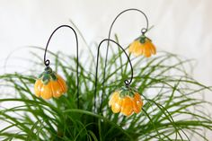 Bellflower flower plugs of ceramic yolk by karolart on Etsy, €5.80