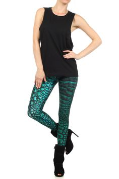 Show some love for Khaleesi, the baddest bi-atch on Game of Thrones by expressing your inner dragon. These green dragon scale legz are inspired by Rhaegal, one of her three fire-breathing dragon babies.