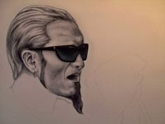 layne staley drawing. quite amazing.