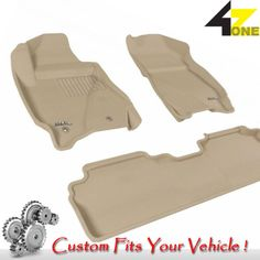 3D Fits 2011-2012 Ford Escape G3AC17897 Tan Waterproof Front and Rear Car Parts