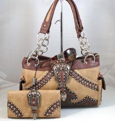 DG Sunglasses+Western Cowgirl Montana West Belt Buckle Handbag+Wallet