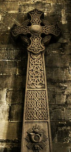 Celtic Cross in Glasgow Cathedral - Scotland
