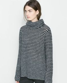 ZARA - NEW THIS WEEK - SWEATER WITH LOOSE TURTLE NECK