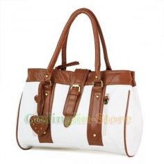 New Fashion Style Women:s Lady Hobo Casual PU Leather Handbag Shoulder Bag White