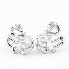 Wholesale Little Swan exquisite fashion earrings (similar to allergies),Fashion Earrings,E86966