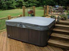 Multi-level spa deck