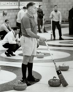 Dave Rattray at a curling match (yes, on ice) in Canada.   - TownandCountryMag.com