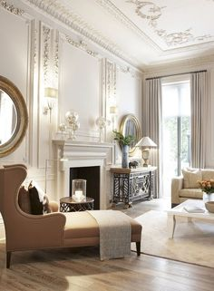 Lovely French Country Living Room Decor Ideas – Home Decoration French Country Rug, French Country Bedrooms, French Country Living Room, French Room Decor, French Style Decor, French Farmhouse, Country Kitchen, Farmhouse Style, French Living Rooms