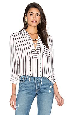 Dean Lace Up Blouse