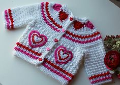 Ravelry: Hearts of Love Sweater PDF 12-093 pattern by Maria Bittner