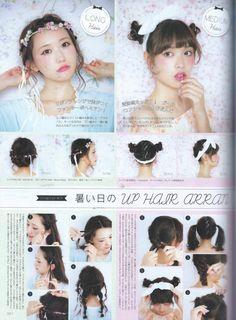 Pichile September Larme 017 & Risa Nakamura First Style Book scans Kawaii Hairstyles, Summer Hairstyles, Cute Hairstyles, Best Japanese Skincare, Hair Arrange, Hair Magazine, Soft Hair, Very Long Hair, Fashion Books