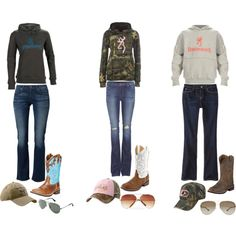 A fashion look from August 2013 featuring Mossimo jeans, Levi's jeans and J Brand jeans. Browse and shop related looks. Country Style Outfits, Southern Outfits, Country Girl Style, Country Fashion, Petite Outfits, My Style, Country Life, Cute Cowgirl Outfits, Camo Outfits