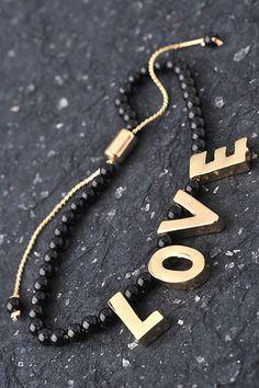 Love Bead Bracelet $16.50   e-closet