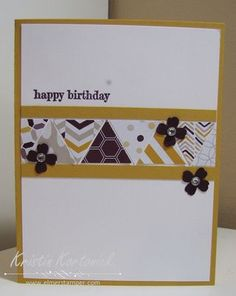 May 13, 2014 Stampin' and Scrappin' With Kristin: Moonlight Triangles Something to Say, Itty Bitty Accents Punch Pack, Moonlight DSP Stack, Blackberry Bliss, Hello Honey