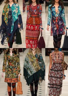 Burberry Prorsum A/W 15/16 - Patchwork Patterns – Paisley Prints – Bohemian Vibe – Printed Camouflage Lace – Whimsical Folk – Leopard Prints – Mirrored Embelishments