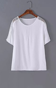 White Stripes T-Shirt Blouse
