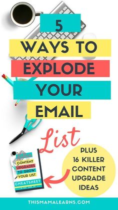Email Marketing Tips || Blogging Tips || Looking for ways to grow your email list? Not sure why nobody is signing up for your newsletter on your side bar? Look: readers expect more these days. Click through to learn 5 different enticements you can offer t