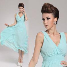 Amazon.com: Zehui Womens Candy Color Chiffon Solid Party Ball BOHO Sleeveless Beach Long Dress: Clothing $27