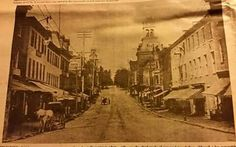 First Blick of North Potomac Street, date unknown.