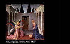 "Fra Angelico, (Guido di Pietro) 1387-1455.  Vicchio nell Mugelo, Florencia, Italia  ""La Anunciación"""