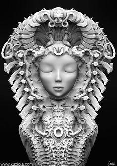 3D Illustrations by Andrzej Kuziola http://www.cruzine.com/2012/11/30/3d-illustrations-andrzej-kuziola/