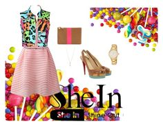 """""""Lady shinny pink"""" by emii-iturria ❤ liked on Polyvore"""