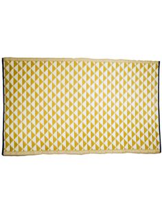 Plastic Mat - Mustard and Off-White triangle pattern Plastic Mat, Family Picnic, Triangle Pattern, Liquid Soap, Off White, Mustard, Outdoor Living, Red, Decor