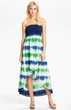MICHAEL Michael Kors Strapless High/Low Maxi Dress available at Nordstrom