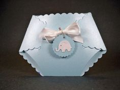 Baby Elephant  Diaper Card Baby Shower Invitation by TinyInvites