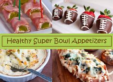 For your Super Bowl weekend, we've found a few favorite healthy appetizers as good as traditional not-so-healthy football fare!