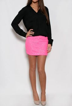 #shopprivategallery.com   #Skirt                    #Short #Sequin #Mini #Skirt                         Short Sequin Mini Skirt                             http://www.seapai.com/product.aspx?PID=279363