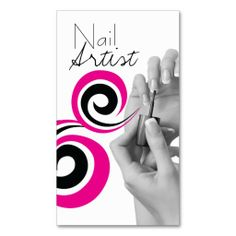 Modern nail artist business card template | Modern nails and ...