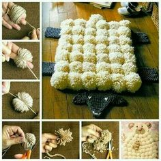 Making pom-poms is incredibly simple just with your fingers, even a kid can do it ! Pom-poms can be. The post The Perfect DIY Super Easy Finger Pom-poms appeared first on The Perfect DIY. Diy Pom Pom Rug, Pom Pom Crafts, Pom Poms, Yarn Crafts, Diy Tapis, Diy Pour Enfants, Pom Pom Tutorial, Diy Tutorial, Decoration Home