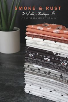 Fabric is Smoke & Rust by Lella Boutique for Moda Fabrics shipping April 2021.