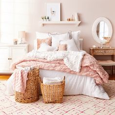 """3,728 Likes, 57 Comments - HomeSense (@homesensecanada) on Instagram: """"Sleep tight in blush pink & bright white. Fall in love with dreamy #MyHomeSense bedding at even…"""""""