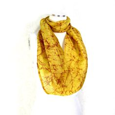 Yellow Silk Scarf Sari Silk Infinity Scarf Womens Scarf Fall Scarf... ($18) ❤ liked on Polyvore featuring accessories, scarves, circle scarves, silk shawl, tube scarves, yellow scarves and lightweight summer scarves
