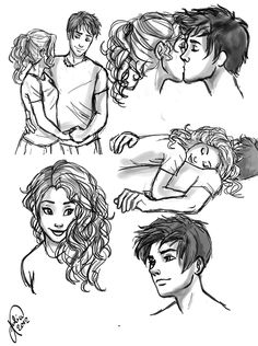 some percabeth doodles :)