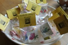 party bag ideas for a girl's 10th birthday party