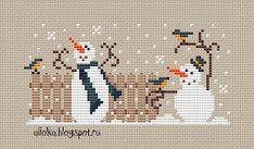 My tvorilki *** Aliolka design: Funny snegovichki! Xmas Cross Stitch, Cross Stitch Needles, Cross Stitch Samplers, Cross Stitch Kits, Cross Stitch Designs, Cross Stitching, Cross Stitch Embroidery, Embroidery Patterns, Cross Stitch Patterns