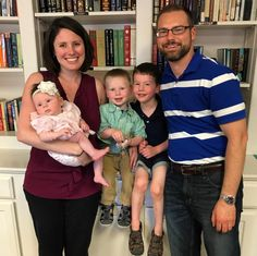 This is our son and his family that we traded the 4 footed creatures of farm life for the cutest little two footed creatures, our three sweet grandchildren.  This lovely family photo was taken in July.