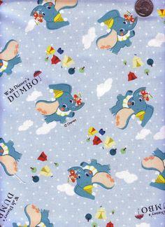 Half Yard Japanese Cotton Fabric Disney Dumbo by emicraftinjapan